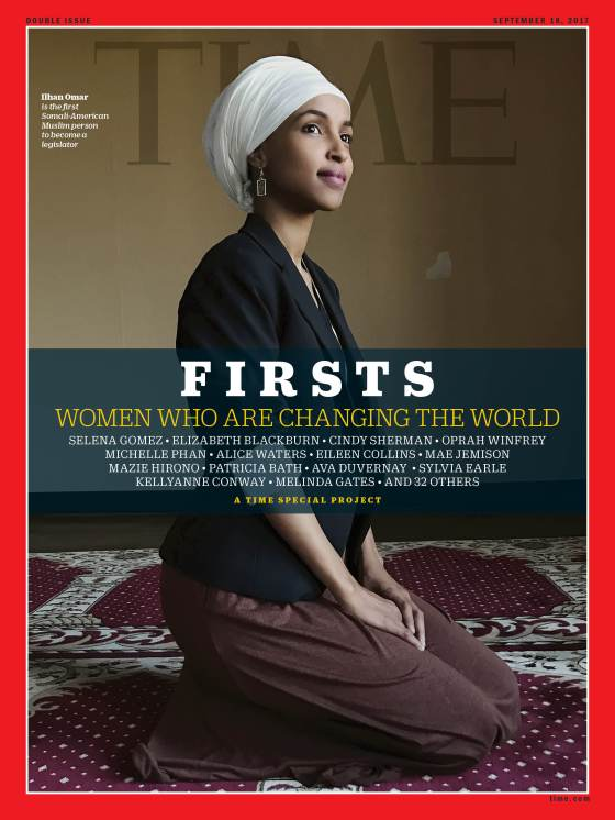 Firsts Women Who Are Changing the World Ilhan Omar Time Magazine Cover