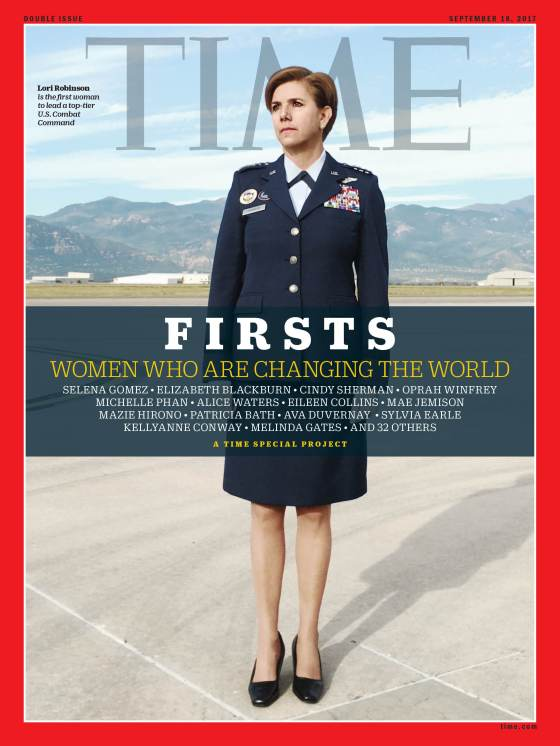 Firsts Women Who Are Changing the World Lori Robinson Time Magazine Cover