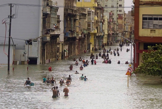 The streets of Cuba's capital were turned into canals; the country sustained a direct hit by Irma