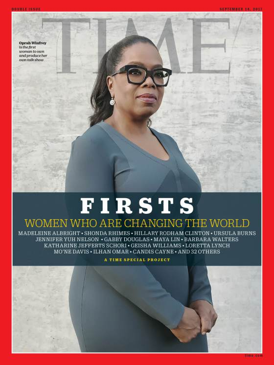 Firsts Women Who Are Changing the World Oprah Winfrey Time Magazine Cover