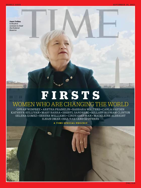 Firsts Women Who Are Changing the World Janet Yellen Time Magazine Cover