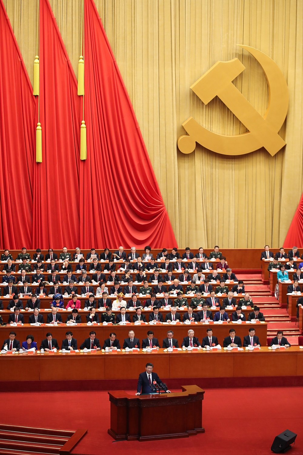 Chinese President Xi Jinping delivers a speech during the opening session of the 19th Communist Party Congress in Beijing on Oct. 18, 2017.