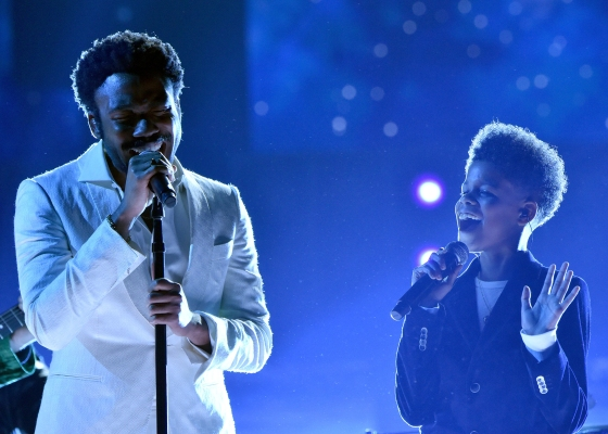 Childish Gambino and JD McCrary perform onstage during the 60th Annual GRAMMY Awards at Madison Square Garden on Jan. 28, 2018 in New York City.