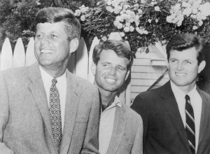 Presidential Candidate John F. Kennedy Standing with His Brothers