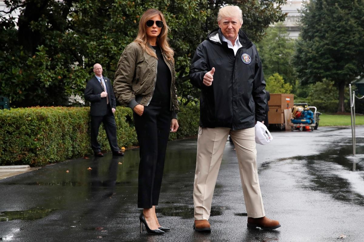 Donald Trump Melania Trump Texas Hurricane