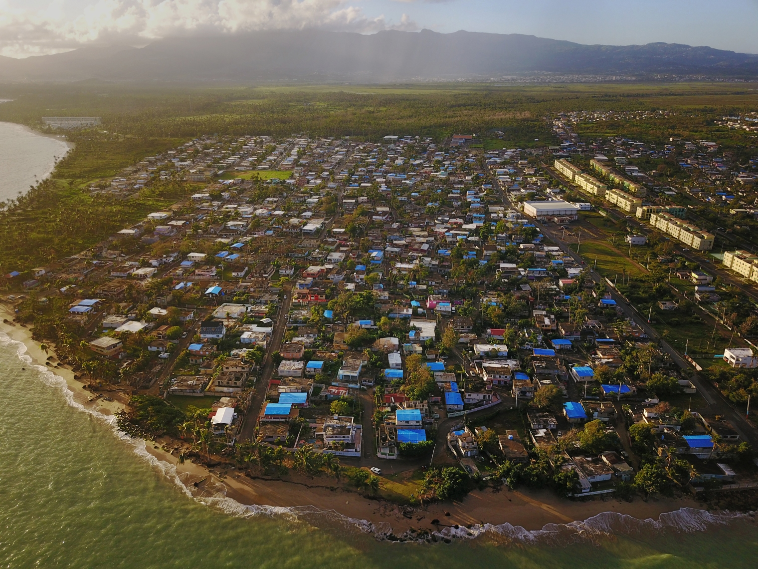 The coastal city of Loiza was hard hit by Hurricane Maria with a long-lasting power outage and water and food shortages.
