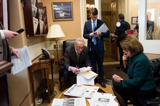 Pelosi and Senate Democratic leader Chuck Schumer