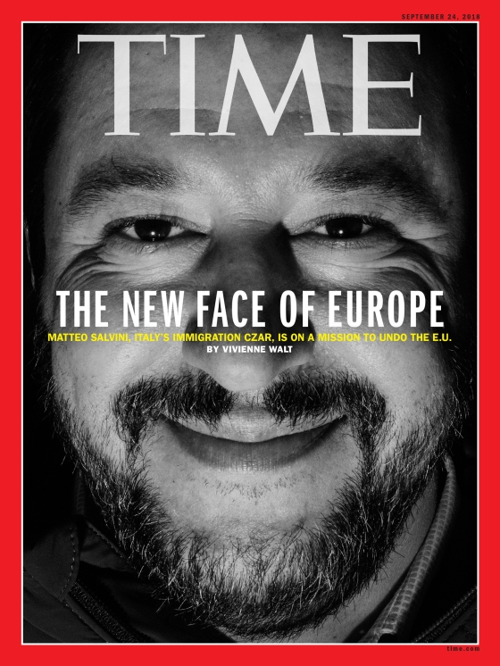 Italy's Immigration Czar Time International Magazine Cover