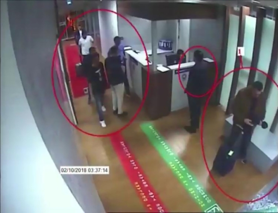 CCTV footage from Oct. 2 shows a Saudi jet at Istanbul's Ataturk airport, suspects at the airport and Khashoggi entering the Saudi consulate that day