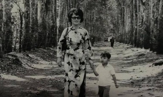 Nguyen with his mother in Vietnam, before they left for the U.S