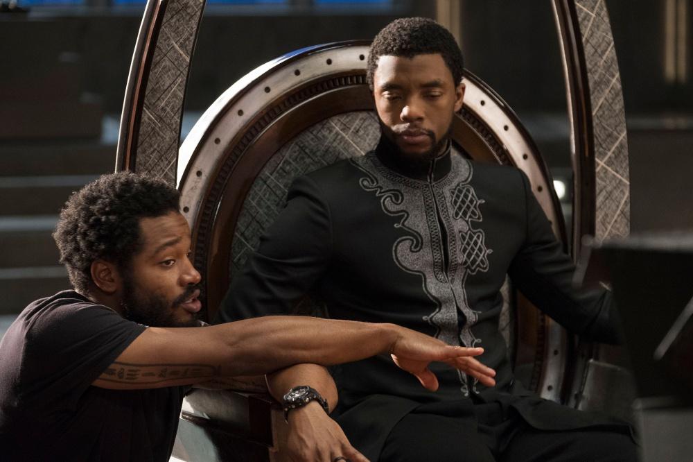 Ryan Coogler on the set of Black Panther