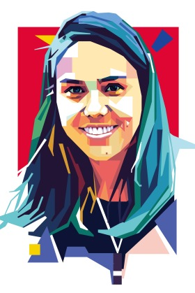 An illustration of Amelia Telford a Climate campaigner from Australia