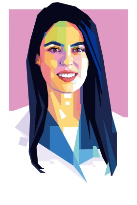 An illustration of Basima Abdulrahman a Sustainable architect, Iraq