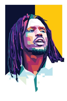 An Illustration of Emmanuel Jal a Musician and actor, Sudan