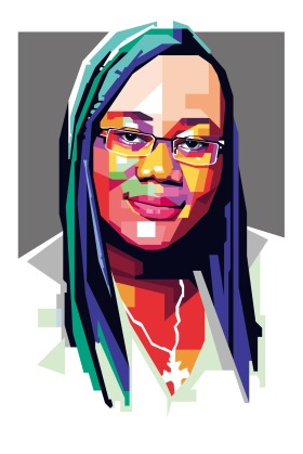 An illustration of Gwendolyn Myers a Peace advocate, Liberia