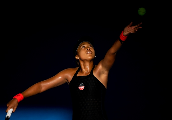 Osaka, playing in an Australian Open warm-up tournament on Jan. 3, has one of the strongest serves in the game