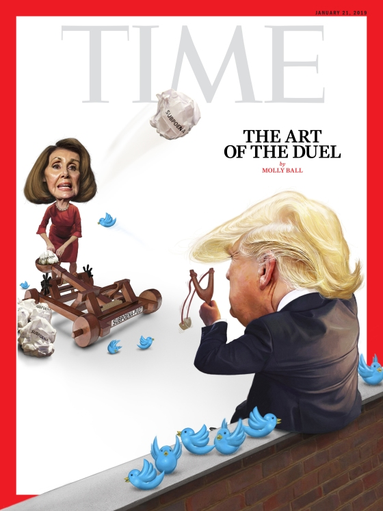 Trump Pelosi Duel Time Magazine Cover
