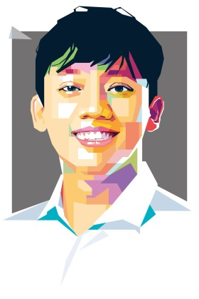 An illustration of Rizky Ashar Murdiono a Youth activist, Indonesia