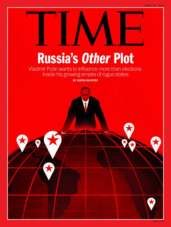Putin's empire of influence Time International Cover