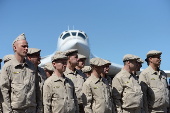 The Russian air force took part in joint exercises with Venezuelan troops near Caracas in December