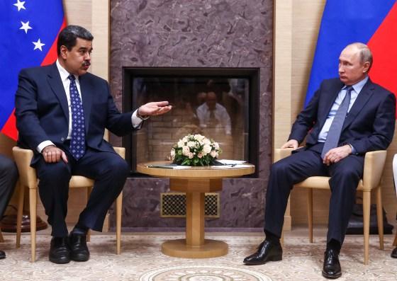 Venezuelan President Nicolas Maduro with Putin on Dec.5. He visited Russia to seek financial aid