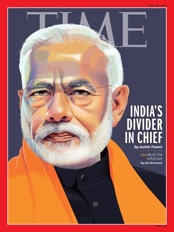 Modi election cover