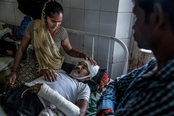 Sardar Singh Jatav recovers after an attack by higher-caste Hindu men in September 2018
