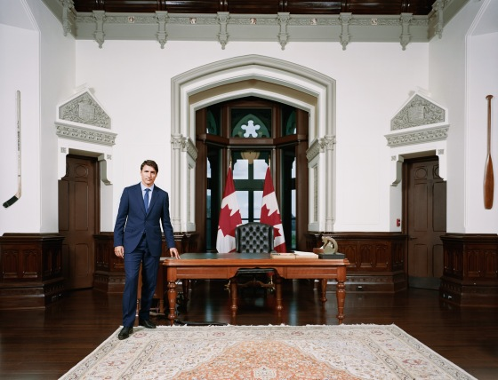 Trudeau in the Prime Minister's office in Ottawa on Sept. 3