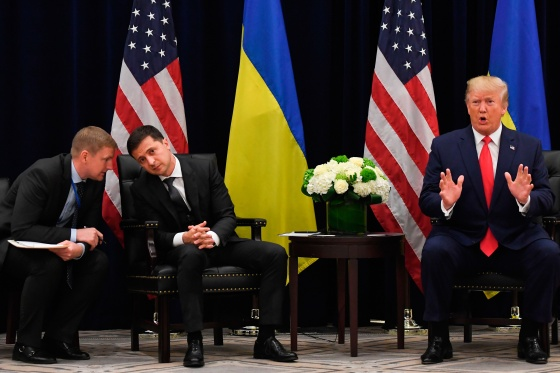 Zelensky and Trump at the U.N. General Assembly on Sept. 25