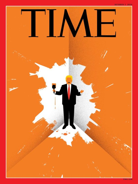 Trump Cornered Time Magazine cover