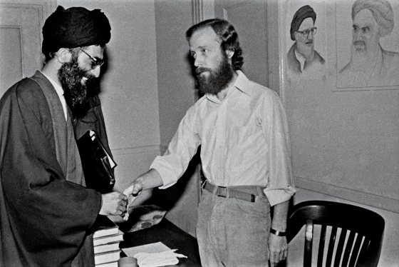 In 1980, Khamenei visited American hostages inside the captured U.S. embassy