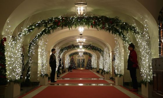 Michelle Obama White House Christmas decorations