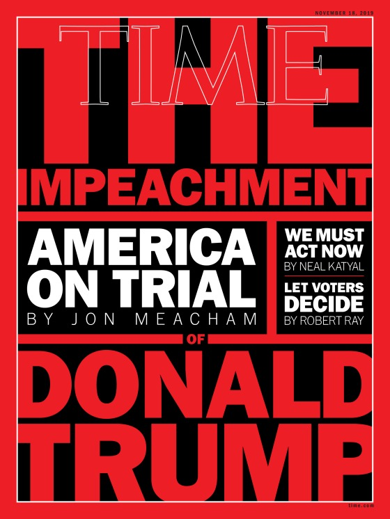 The Impeachment of Donald Trump Time cover