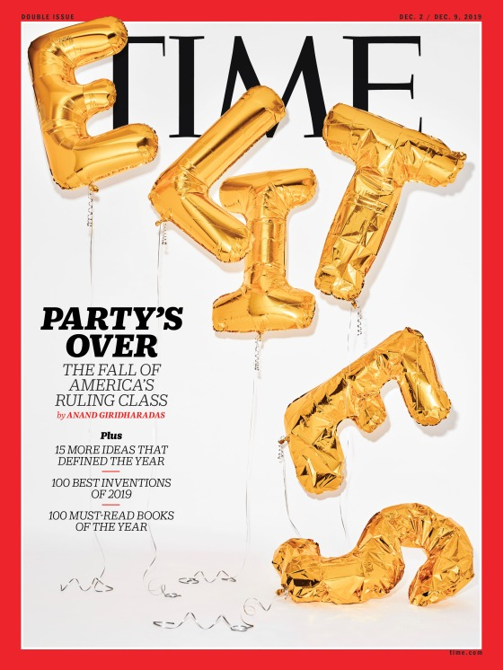 The Elites Party's Over Time Magazine Cover